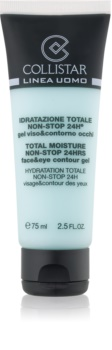 Collistar Total Moisture Non-Stop 24hrs frissítő hatású hidratáló arcgél az arcra és a szem környékére