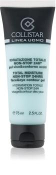 Collistar Total Moisture Non-Stop 24hrs hydratační pleťový gel s osvěžujícím účinkem na obličej a oční okolí