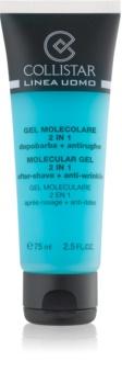 Collistar Molecular Gel 2 in 1 гел след бръснене + дневен хидратиращ крем с анти-бръчков ефект