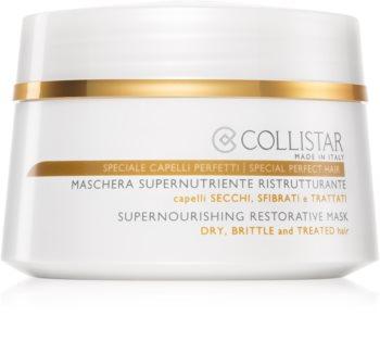 Collistar Special Perfect Hair Supernourishing Restorative Mask tápláló regeneráló maszk száraz és törékeny hajra