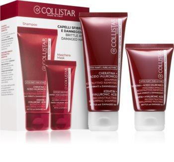 Collistar Special Perfect Hair Keratin+Hyaluronic Acid Shampoo set (za poškodovane in krhke lase)