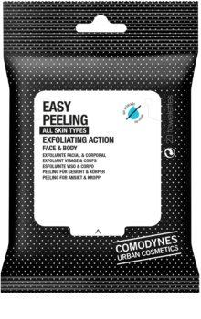 Comodynes Easy Peeling toalhitas exfoliantes para rosto e corpo