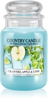 Country Candle Cilantro, Apple & Lime vonná sviečka