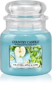 Country Candle Cilantro, Apple & Lime scented candle