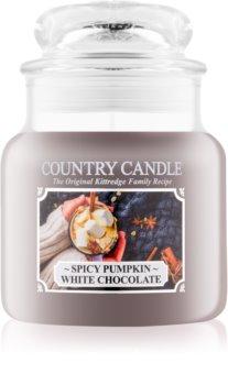 Country Candle Spicy Pumpkin White Chocolate lumânare parfumată