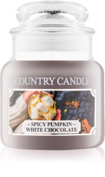 Country Candle Spicy Pumpkin White Chocolate Duftkerze