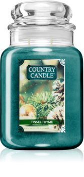 Country Candle Tinsel Thyme vonná sviečka