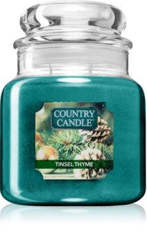 Country Candle Tinsel Thyme illatos gyertya