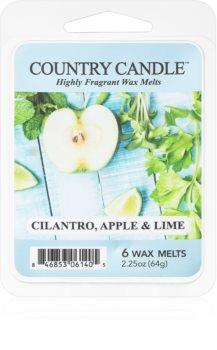 Country Candle Cilantro, Apple & Lime cera per lampada aromatica