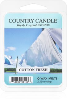 Country Candle Cotton Fresh illatos viasz aromalámpába