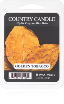 Country Candle Golden Tobacco cera per lampada aromatica