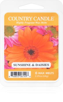 Country Candle Sunshine & Daisies cera derretida aromatizante