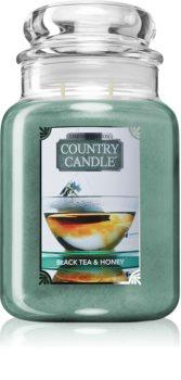 Country Candle Black Tea & Honey illatos gyertya