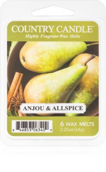 Country Candle Anjou & Allspice wachs für aromalampen