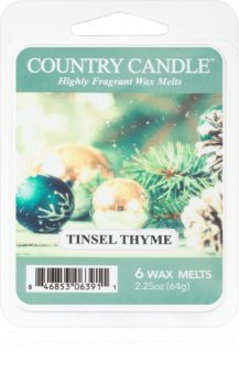 Country Candle Tinsel Thyme κερί για αρωματική λάμπα