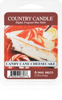Country Candle Candy Cane Cheescake wachs für aromalampen