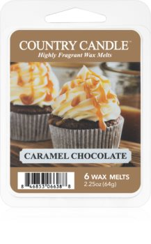 Country Candle Caramel Chocolate tartelette en cire