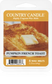 Country Candle Pumpkin & French Toast tartelette en cire