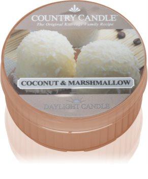 Country Candle Coconut Marshallow vela de té