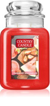 Country Candle Strawberry Watermelon scented candle