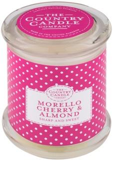 Country Candle Morello Cherry & Almond vela perfumada    en vidrio, con tapa