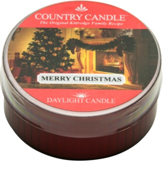 Country Candle Merry Christmas theelichtje