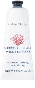 Crabtree & Evelyn Caribbean Island Wild Flowers creme hidratante para mãos