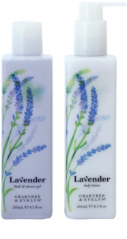 Crabtree & Evelyn Lavender lote cosmético I.