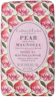 Crabtree & Evelyn Pear & Pink Magnolia jabón sólido con efecto humectante