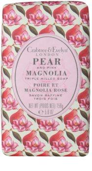 Crabtree & Evelyn Pear & Pink Magnolia sabonete sólido com efeito hidratante