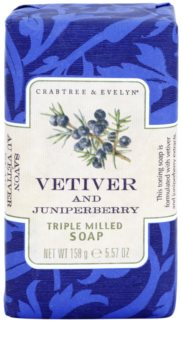 Crabtree & Evelyn Vetiver & Juniperberry luxusní mýdlo s vetiverem a jalovcem