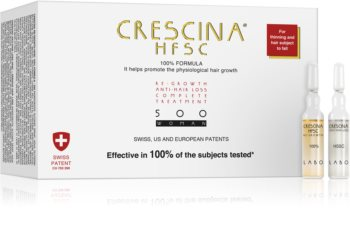 Crescina 500 Re-Growth and Anti-Hair Loss péče pro podporu růstu a proti vypadávání vlasů pro ženy