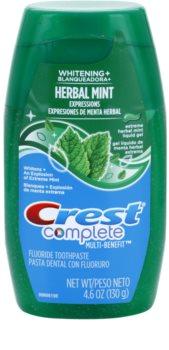 Crest Complete Herbal Mint Whitening+ gel dentífrico