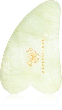 Crystallove Jade Gua Sha Plate attrezzi per i massaggi