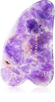 Crystallove Amethyst Gua Sha Plate accesoriu de masaj
