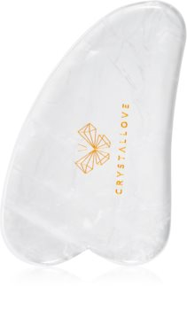 Crystallove Clear Quartz Gua Sha Plate accesoriu de masaj