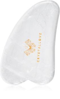 Crystallove Clear Quartz Gua Sha Plate masážna pomôcka