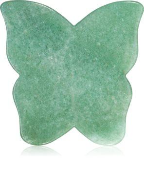 Crystallove Butterfly Aventurine Gua Sha Plate accesoriu de masaj