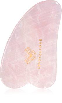 Crystallove Rose Quartz Gua Sha Plate accesoriu de masaj