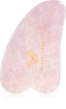 Crystallove Rose Quartz Gua Sha Plate masážní pomůcka