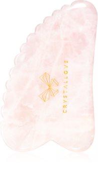 Crystallove 3D Rose Quartz Gua Sha Plate pripomoček za masažo