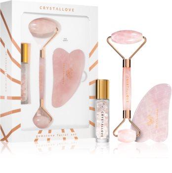 Crystallove Quartz Beauty Set Rose Hudplejesæt