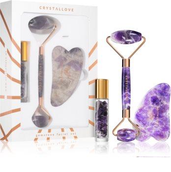 Crystallove Quartz Beauty Set Amethyst kit per la cura del viso