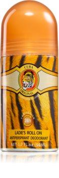 Cuba Jungle Tiger deodorant antiperspirant roll-on pentru femei
