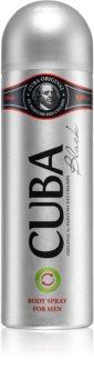 Cuba Black deodorante spray per uomo