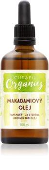 Curapil Organics makadamiový olej na telo a vlasy