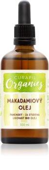 Curapil Organics óleo de macadâmia para corpo e cabelo