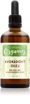 Curapil Organics óleo de abacate para corpo e cabelo