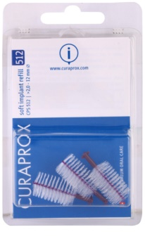 Curaprox Soft Implantat CPS Ersättningsmellanrumstandborstarför tandproteser, 3 st