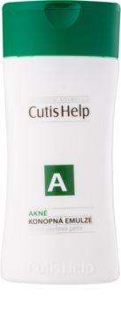 CutisHelp Health Care A - Acne émulsion purifiante au chanvre pour peaux à problèmes, acné